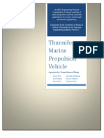 Thunniform Marine Propulsion Vehicle Final Report
