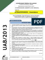 Prova - Letras Espanhol - Licenciatura