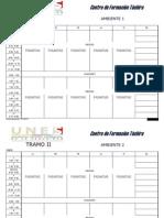 Horario Ambientes Pasantias (1-15) Academica (16-30)