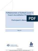 FUNdamentals of Softball (Level 1) Coach Accreditation Program - Softball Australia