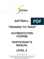 Level 2 Training to Train – Club/Association Junior - Softball Australia NCAS