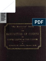 40552984 the Manufacture of Carbons for Electric Lighting An