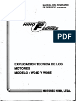 Hino Serie F W04D-W06E Manual de Servicio