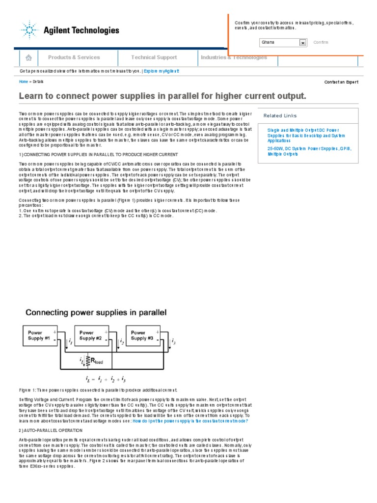Learn To Connect Power Supplies In Parallel For Higher Current Figure 3 Electronic Load Circuit Constant Voltage Cvoperation Output Supply Series And Circuits