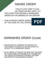 Banking Law Garnishee Order 2