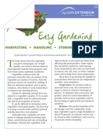 Gardening - Harvesting, Handling, Storing Vegetables