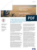 Deutsche Bank Pakistan Country Fact Sheet