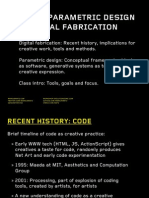 20130906 ITP Parametric - Introduction - MWatz