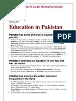 Education in Pakistan a Fact Sheet