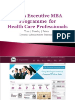 Executive MBA Programme  for HealthCare.ppsx