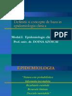Curs 1 - Definitii Si Concepte de Baza in Epidemiologia Clinica