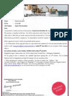 Offer Letter for Canada