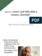 """Serce i rozum, czyli kilka słów o masażu """"Shantala"""" - Mgr Martyna Grygiel-Kaczmarek"""