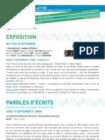 La Lettre de l'IFM Du 8 Au 20 Septembre 2013
