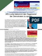 globalfire.tv - Alternative für Deutschland - AfD-Lucke bekommt den Gegenwind der Demokraten zu spüren
