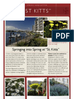 """Spring Newsletter 2013 """"St Kitts"""" Double Bay Waterfront Apartments."""