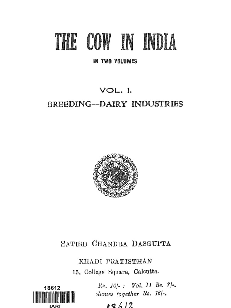 The Cow in India 1945 | Calf | Dairy Cattle