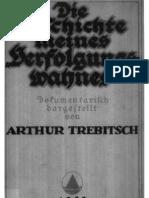Strahlenfolter - Trebitsch, Arthur - Die Geschichte Meines Verfolgungswahnes (1923, 165 S., Text)
