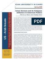 Zionism - Christian Zionism and Its Religious Influence in American Politics - Spring 09 - Eng