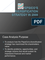 Pepsi_Co Diversification Strategy Case Analysis