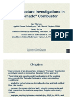 """Flow Structure Investigations in a """"Tornado"""" Combustor"""