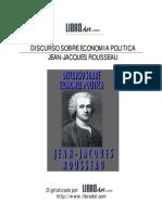 Jean-Jacques Rousseau - Discurso Sobre Economia Politica