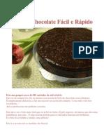 Bolo de Chocolate Fácil e Rápido