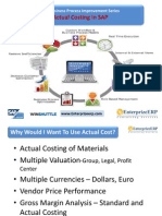 EnterprizeERP - Actual Costing in SAP