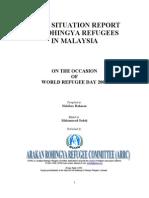 Brief Report on Rohingya in Malaysia 2009