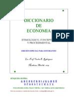 Diccionario de Economia [Carlos E. Rodríguez]