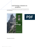 Solutions to Fossen Structural Geology