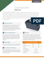 A123 12V Starter Battery