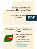 Pesticide Residues in Food  – Regulation, Monitoring, Policy