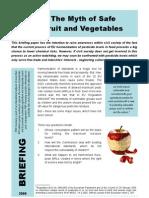 Myth Safe Fruit and Vegetables