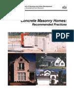 Concrete Masonry Homes