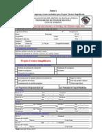 INSTRUCAO TECNICA Nº 42 2011 Projeto Tecnico Simplificado PTS Anexo A
