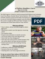 PDR Course 21 Sept 13 12:00-4:00 P.M.