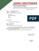 Surat Permohonan Penerbitan Cek