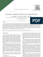 Visco-Plastic Constitutive Models of Steel at High Temperature