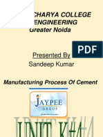 jaypee cement project report