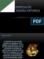RESEÑA HISTORICA ACEITES ESENCIALES - JHECSON OBANDO