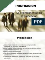 Administracion  presentacion componentes de la planeación y tipos de empresas