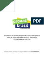 1 Prova Objetiva Tecnico Em Operacao Junior Fafen Energia Rj 2009 Cesgranrio
