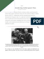 The USA's decades long warfare against China-PART I
