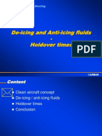 De-Icing & Anti-icing Fluids - Holdover Times