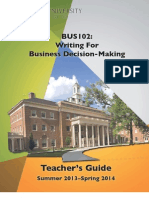 BUS 102 Teachers Guide 2013-2014