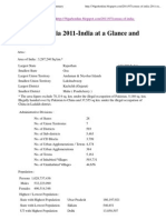 Census of India 2011-India at a Glance and Summary