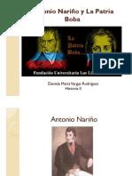 Unidad 3 Antonio Nariño y La Patria Boba - Daniela María Vargas