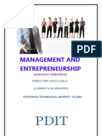 Management & Entrepreneurship Notes