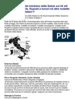 RAPPORTO  del ministero della Salute sui 44 siti più inquinati d'Italia